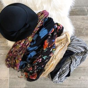 Accessories - FALL WINTER BUNDLE Hat and 5 Scarves Set